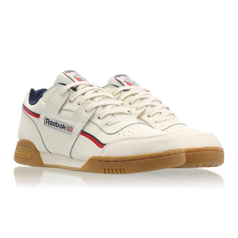 127bc01867f Reebok Workout PlusMU Classic White Navy Red DV4293