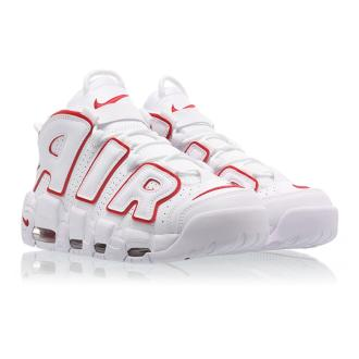 Nike Air More Uptempo White University Red